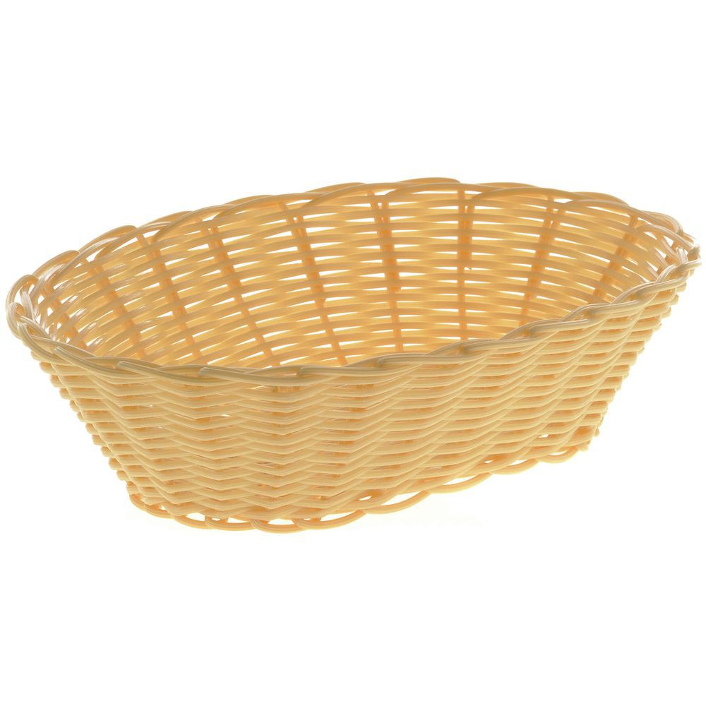 "BASKET, BREAD, OVAL, 9-7/8""L, NATURAL"