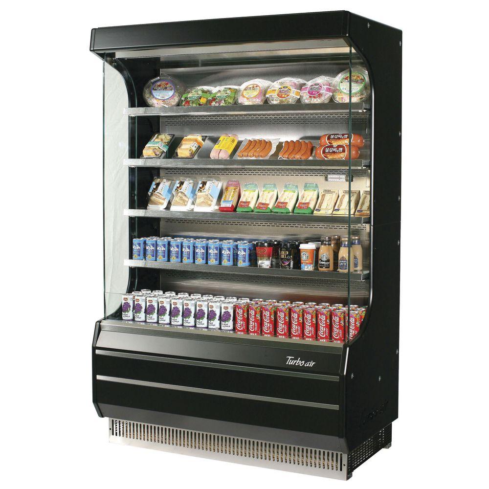 Turbo Air TOM-50B-N 16.5 cu ft European Style Open Display Merchandiser / Refrigerator