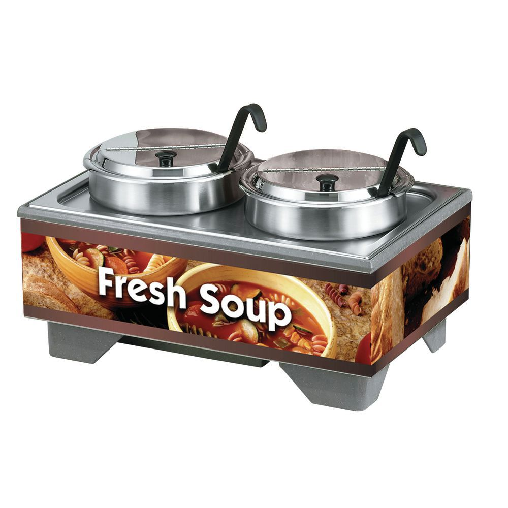 WARMER, SOUP MERCH W/2, 7QT PACK, COUNTRY