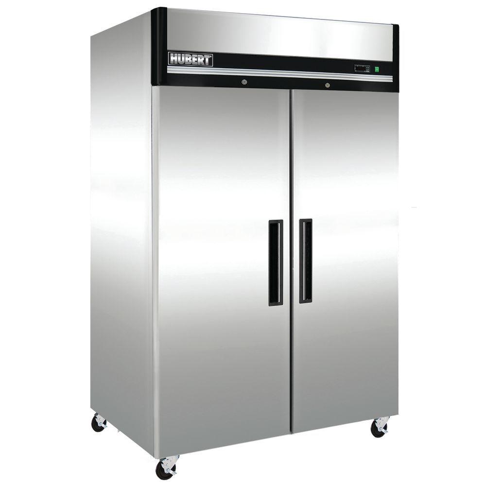 Hubert U00ae 49 Cu Ft 2 Door Reach In Freezer  8 U0026quot W