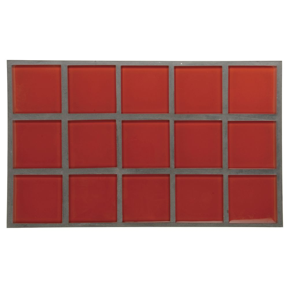 1.0 HOT TILE, RED GLASS