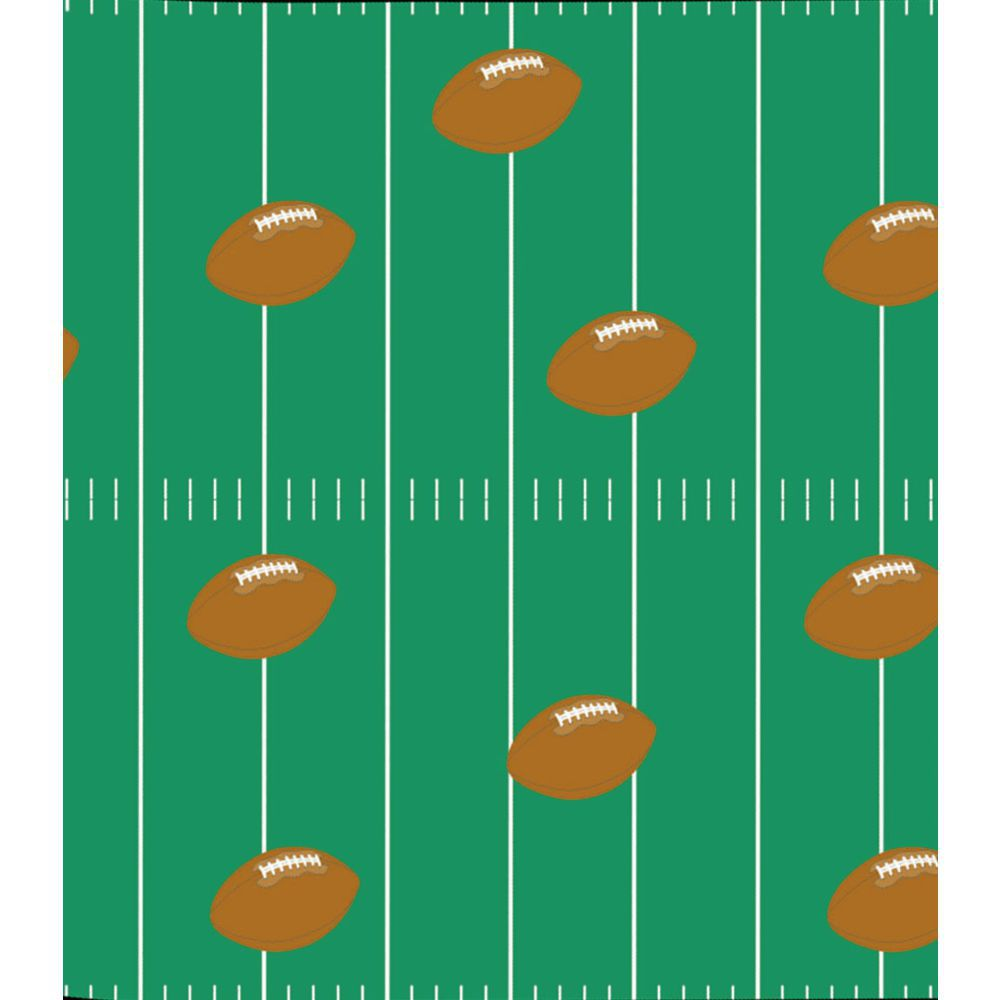 "Corobuff Awning Football Fever Green/Brown 25'L x 24""W Corrugated Paper"