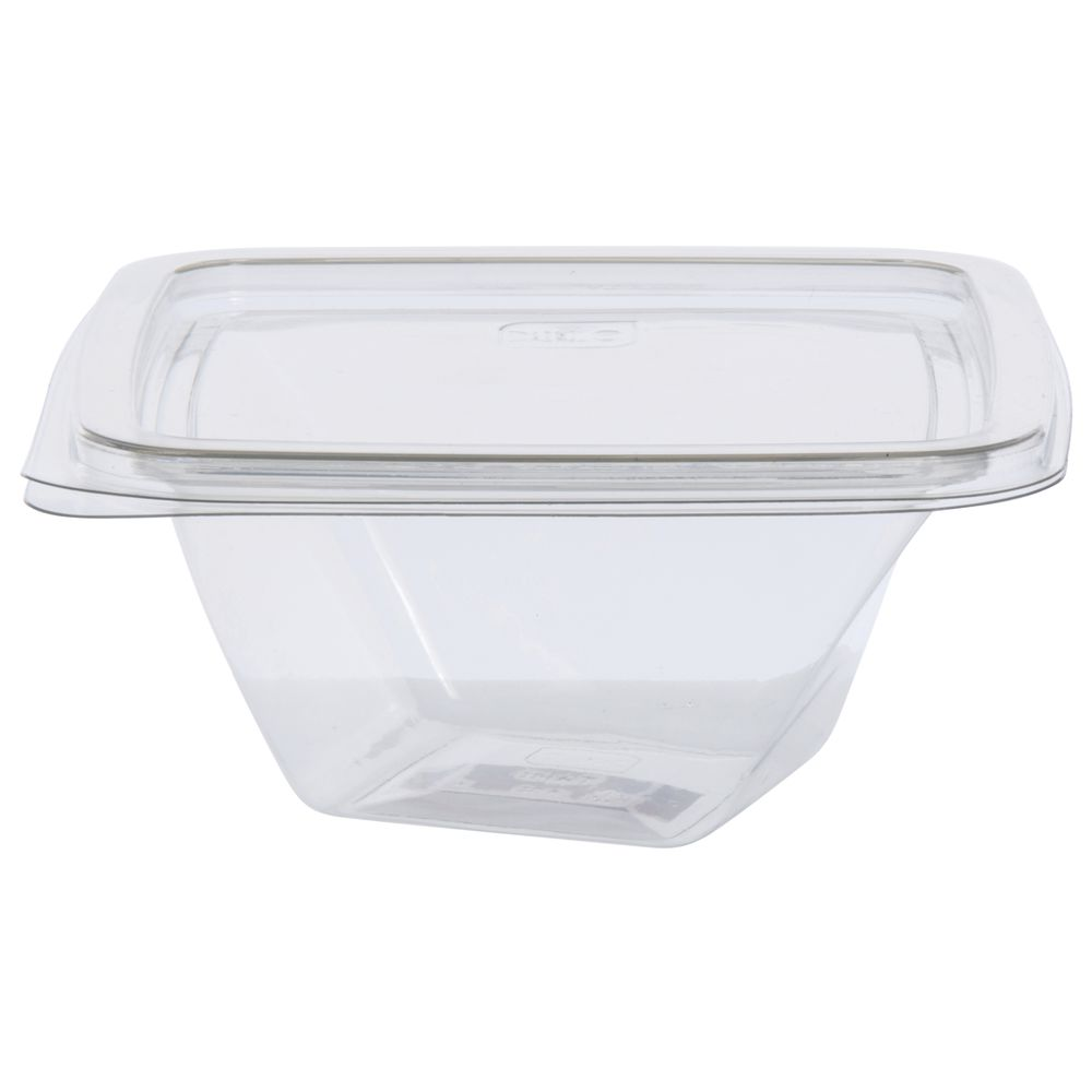 8 Oz Clear Plastic Twist Container Base And Lid Combo 5sq X 2 14h