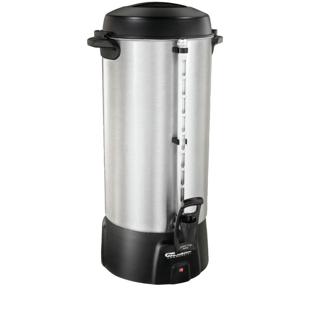 URN, COFFEE, 100 CUP, ALUMINUM