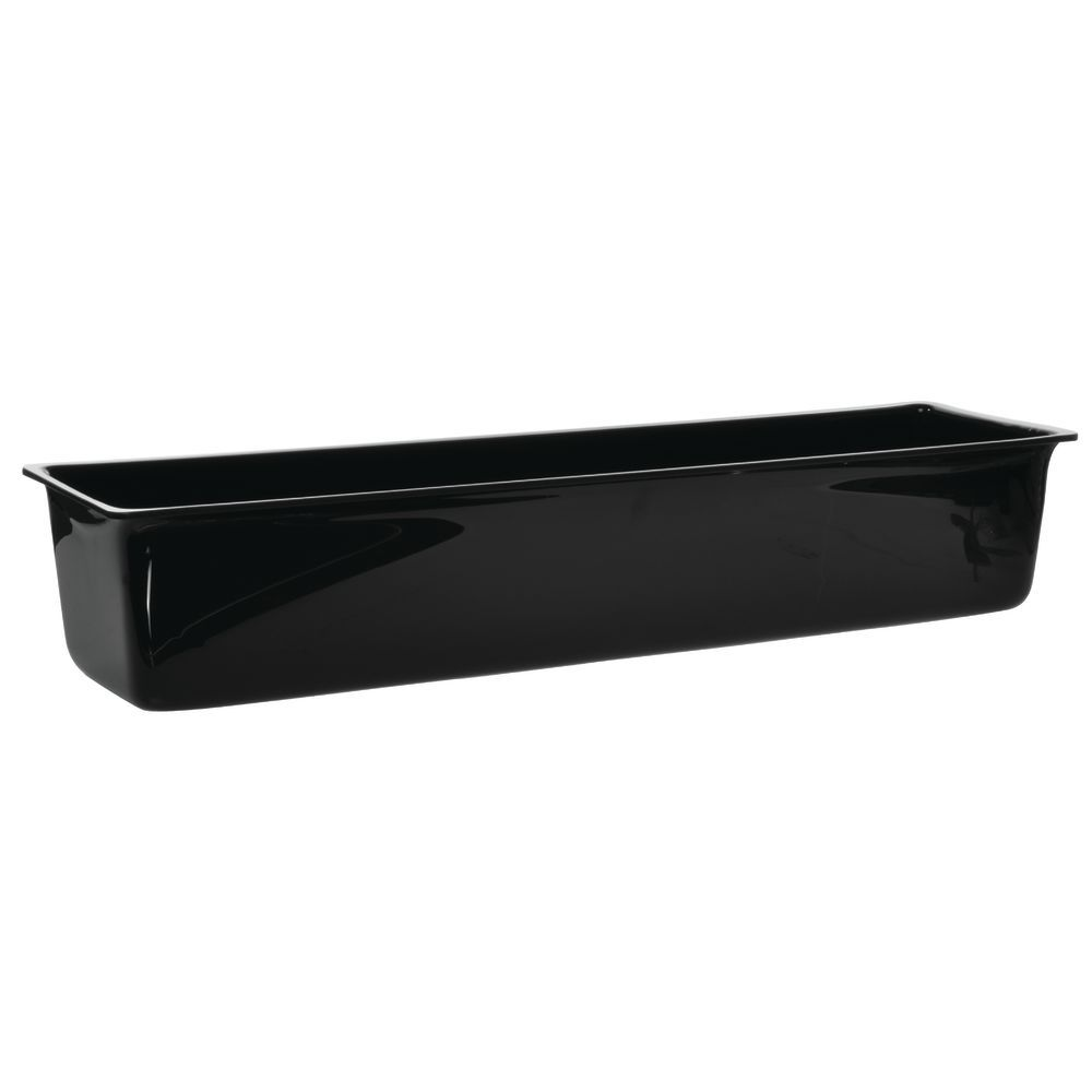 Rectangular Black Acrylic Ice Bin 24 1 2 L X 6 1 2 W X 5 H