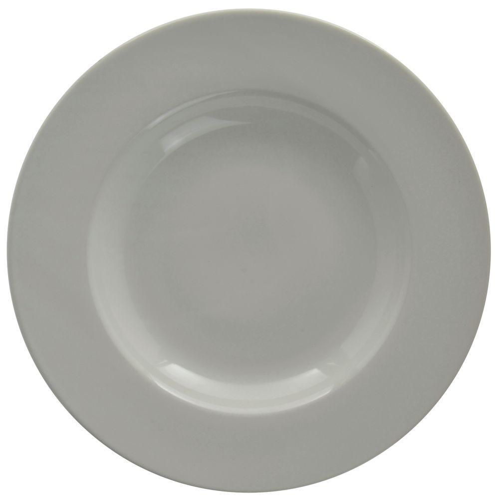 Hubert Rolled-Edge Pasta Bowl 20 Oz  Bright White Stoneware Dishes