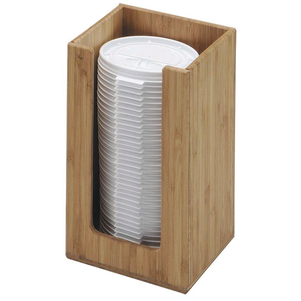 """Bamboo Plastic Lid Holder 4 1/4"""" Sq"""