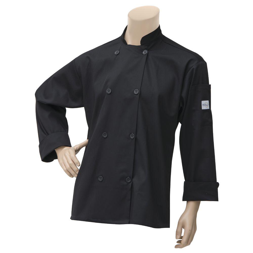 Mercer Culinary® Millenia™ Unisex Chef Coat Black Large