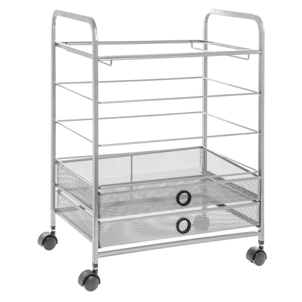 Hanging File Wire Mesh Cart
