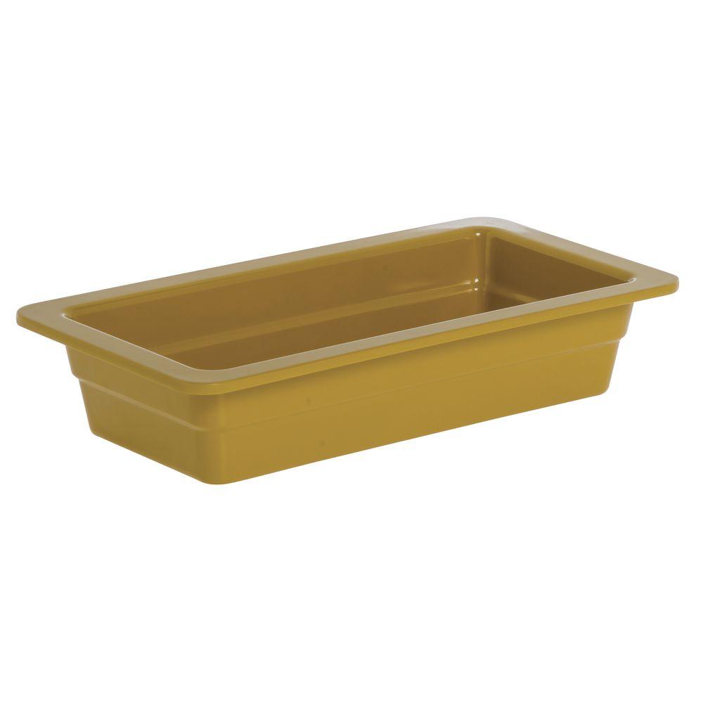 "Expressly Hubert® Third Size Pan Mustard Yellow Melamine 2 1/2""D"