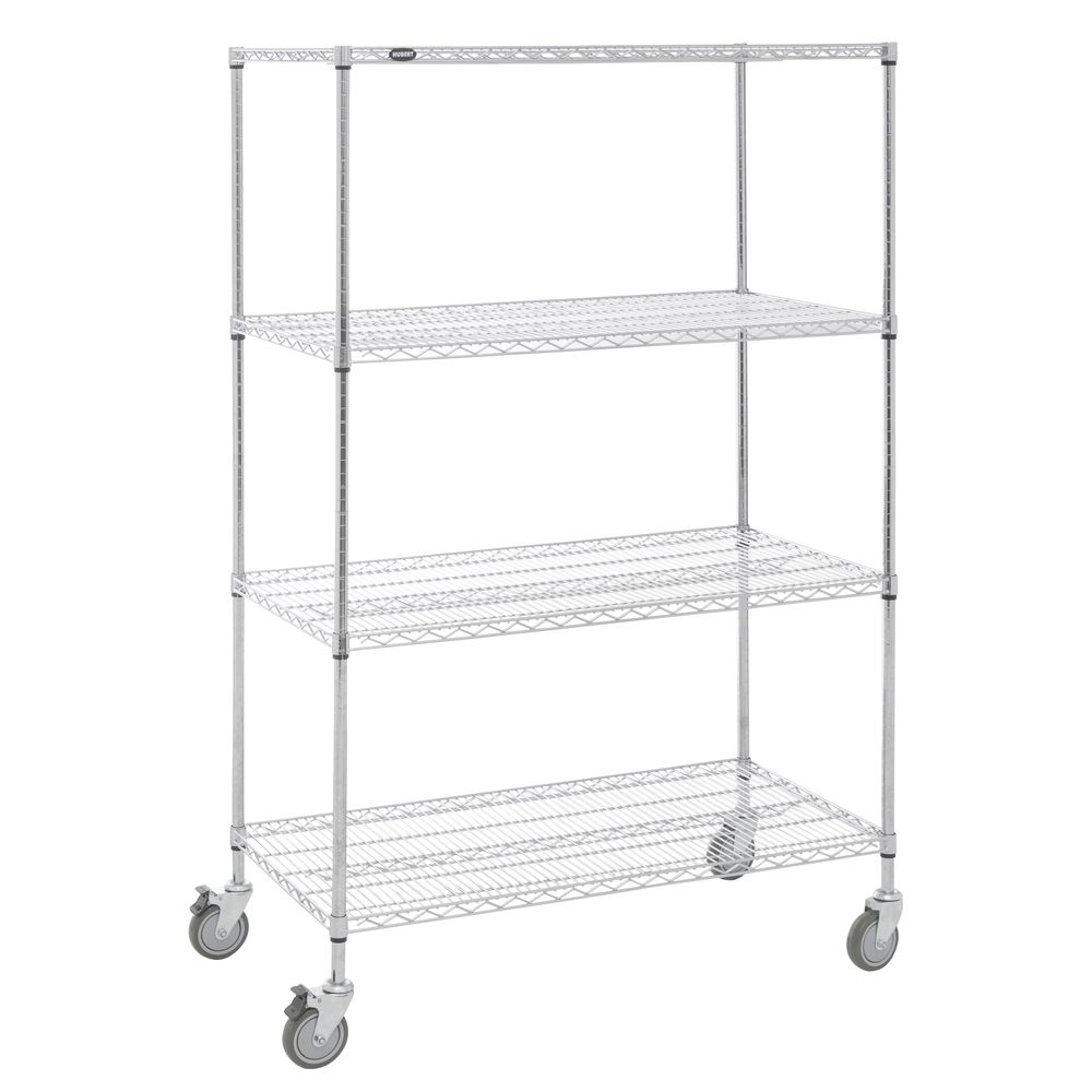 SHELVING, MOBILE, 24X48X78, CHROME PLATED