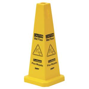 "CONE, FLOOR, 25"" YELLOW WET, ENGLISH ONLY"
