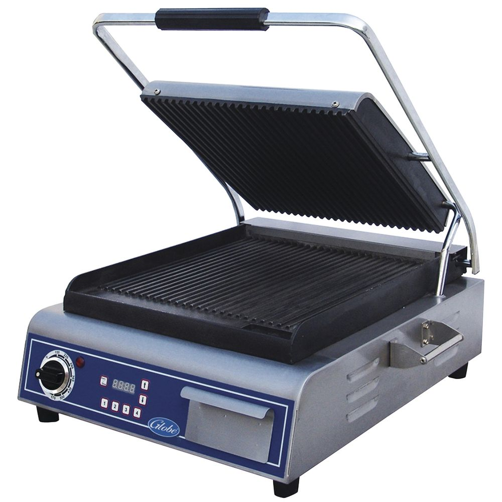 GRILL, PANINI, GROOVED, 14X14, US