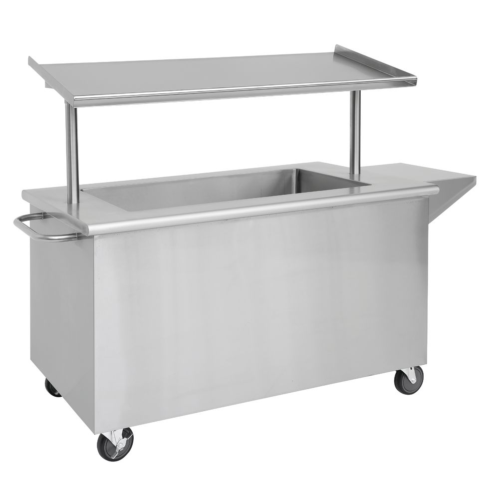 Mobile Breakfast Cart by HUBERT® - Stainless Steel with Ice Bin