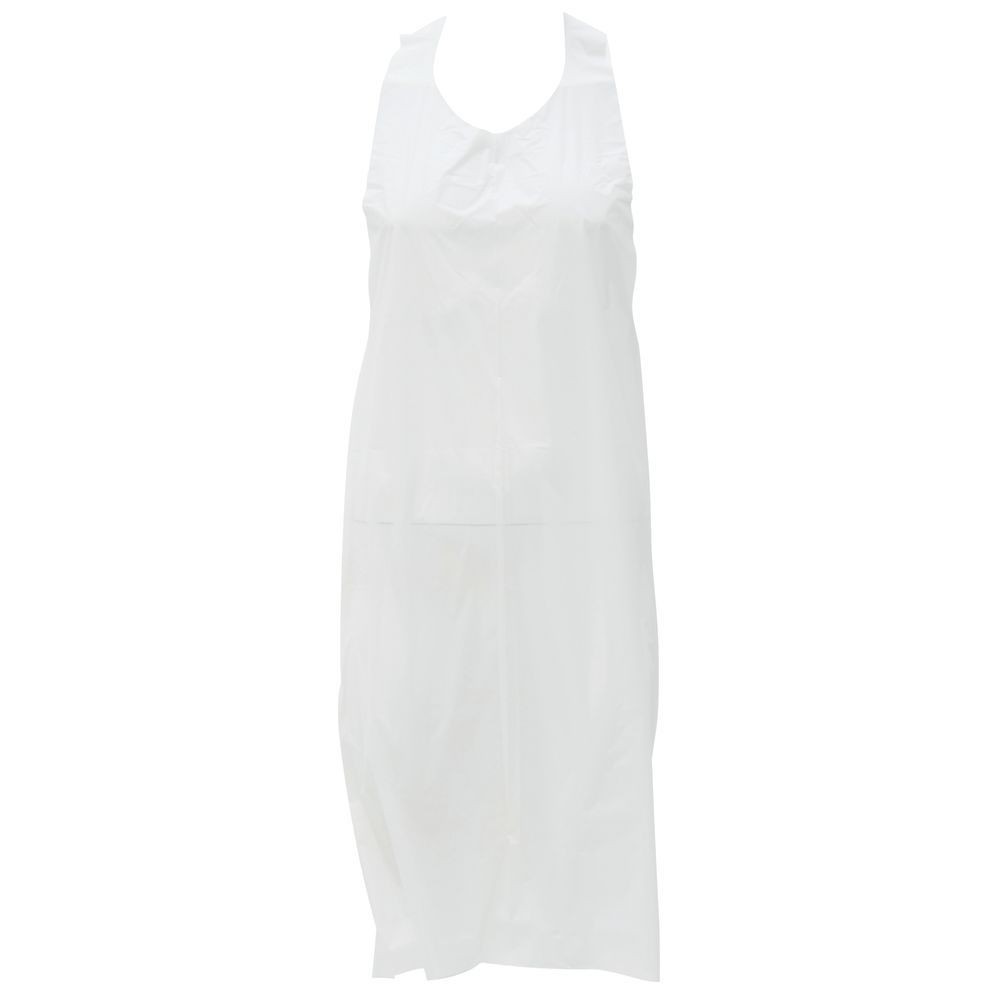 APRON, DISPOSABLE, 1.5-MIL, WHT EMB, 100/BX