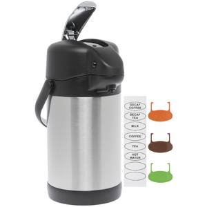 AIRPOT, 2.5L, LEVER, STAINLESS