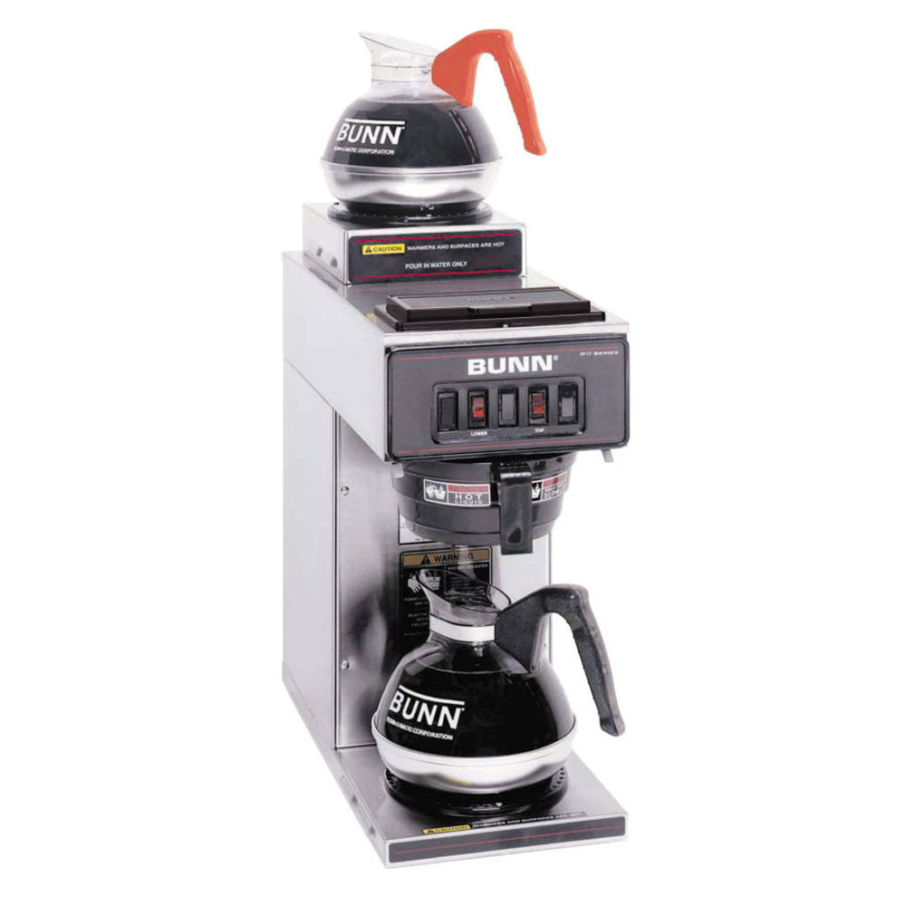 Bunn Pourover Coffee Brewer With 1 Top And 1 Lower Warmer