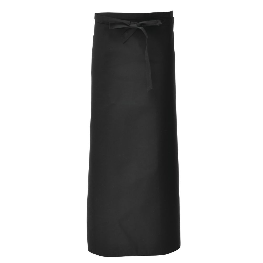 APRON, BISTRO, BLACK, 40 X 40, W/POCKET