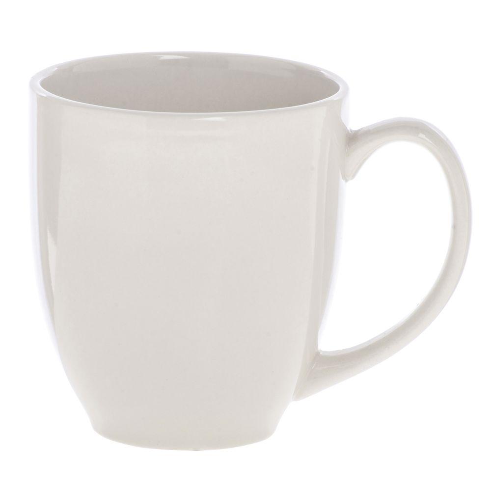 MUG STONEWARE BISTRO WARM WHITE 14 OZ  sc 1 st  Hubert.com & International Tableware® Bistro 14 oz Warm White Stoneware Mug