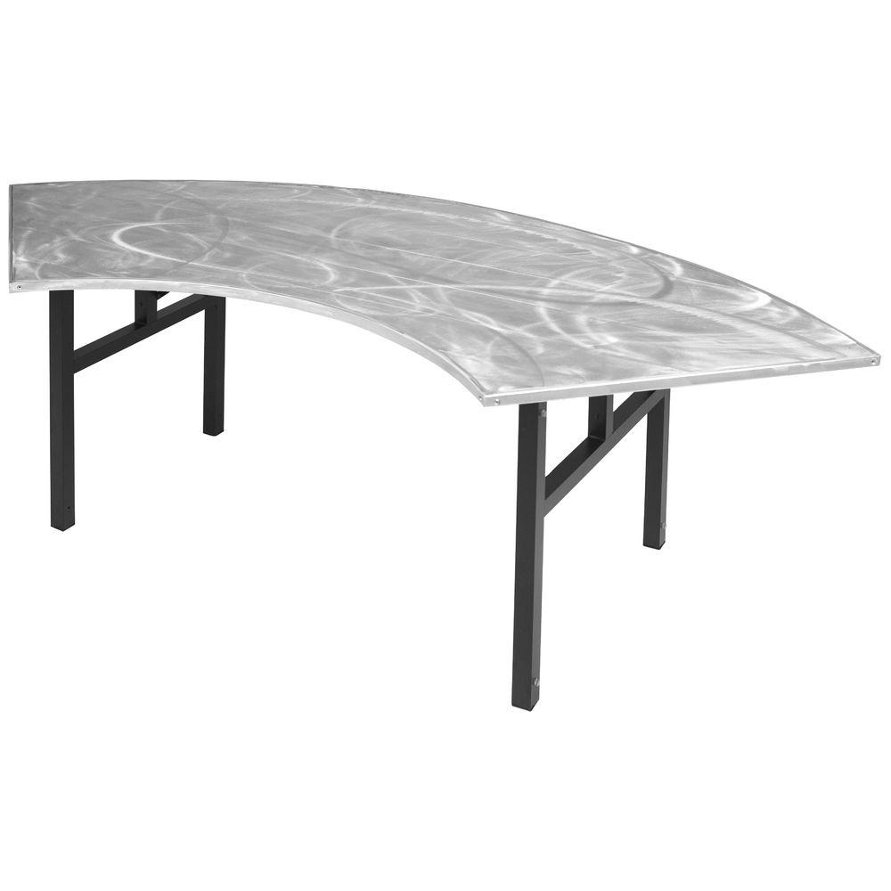 TABLE, SWIRL TOP, SERPENTINE, 30X60, SILVER