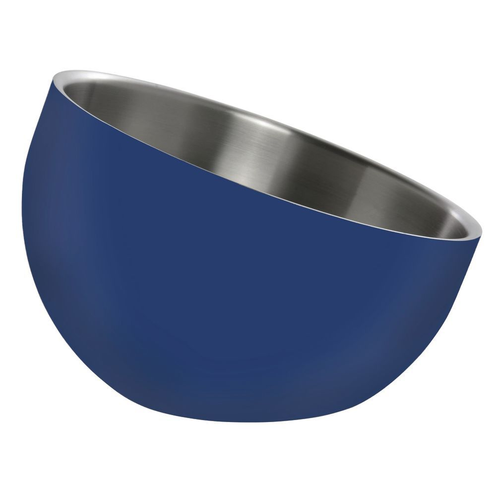 BOWL, DW, BLUE, INCLINE, 7X5.5X3, STAINLESS