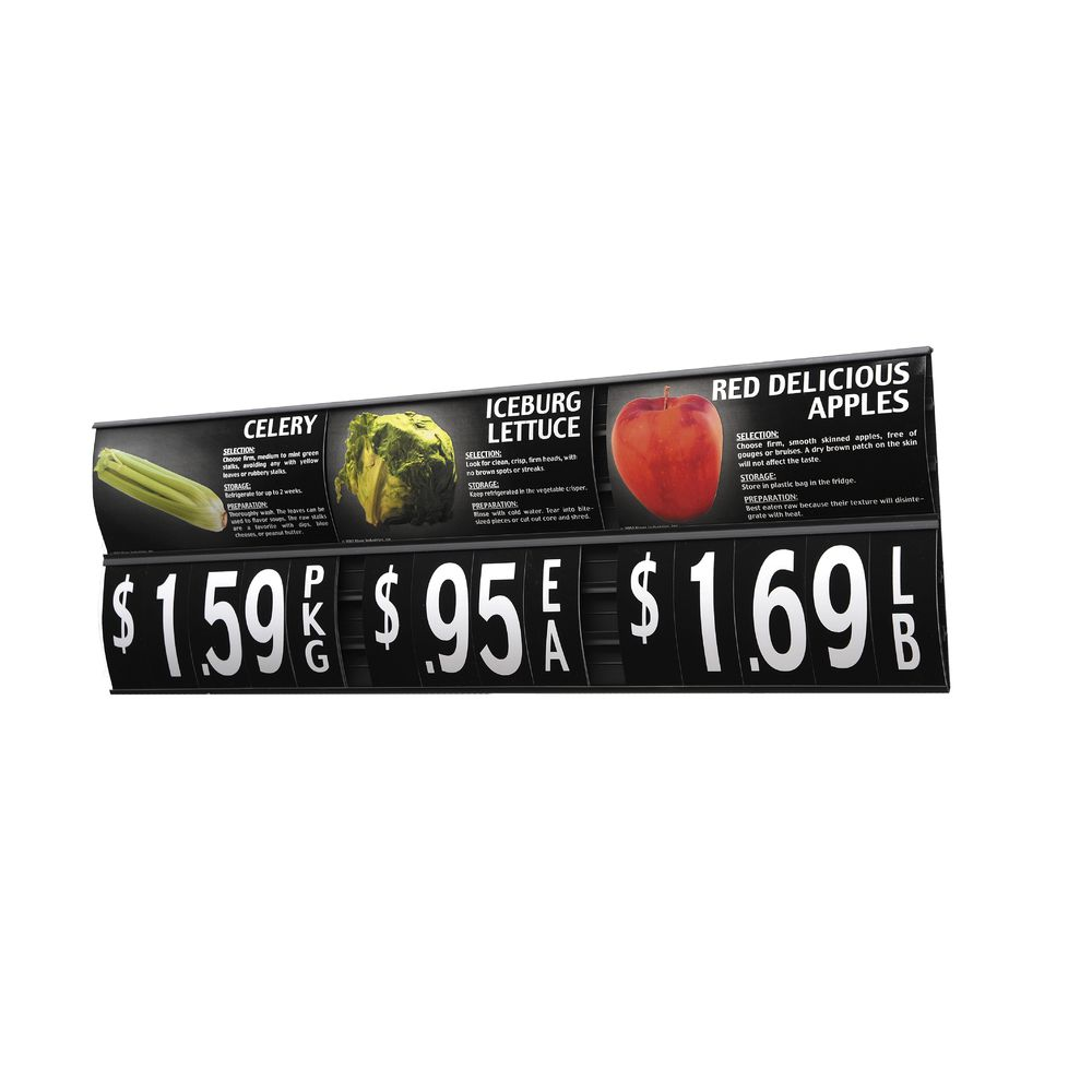 "Six Track Produce Signage With Mounting Tape 48""L"