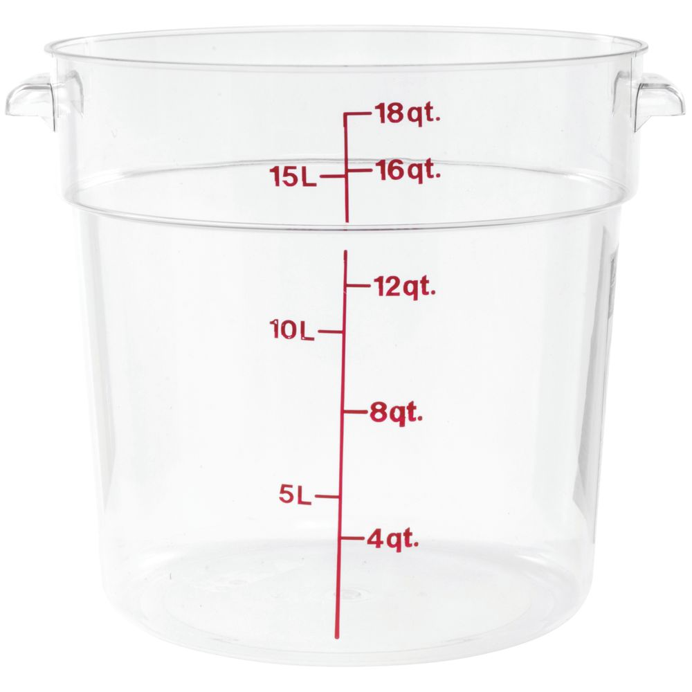 Cambro Camwear 18 qt Round Clear Plastic Food Storage Container 14