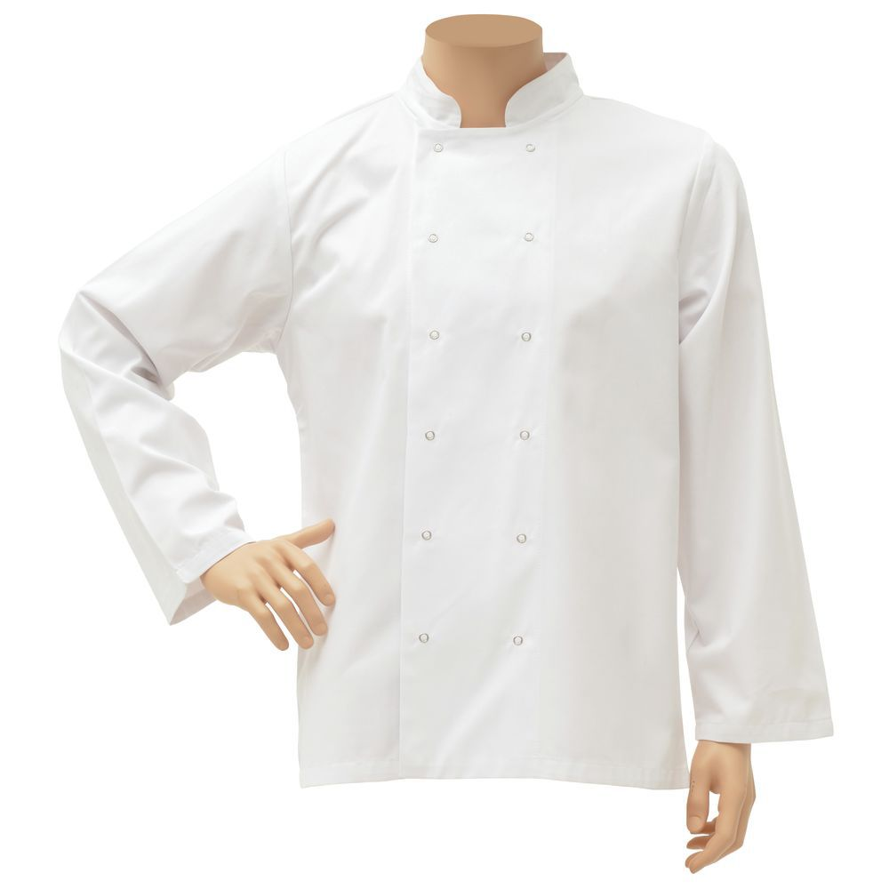 JACKET, CHEF, UNISEX, WHITE, LARGE, LONG
