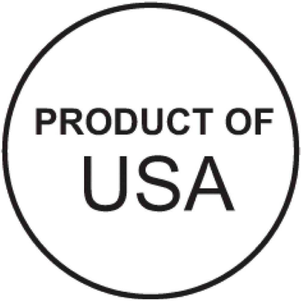 "LABEL, COO, PRODUCT OF USA, 3/4""DIA., 1000"