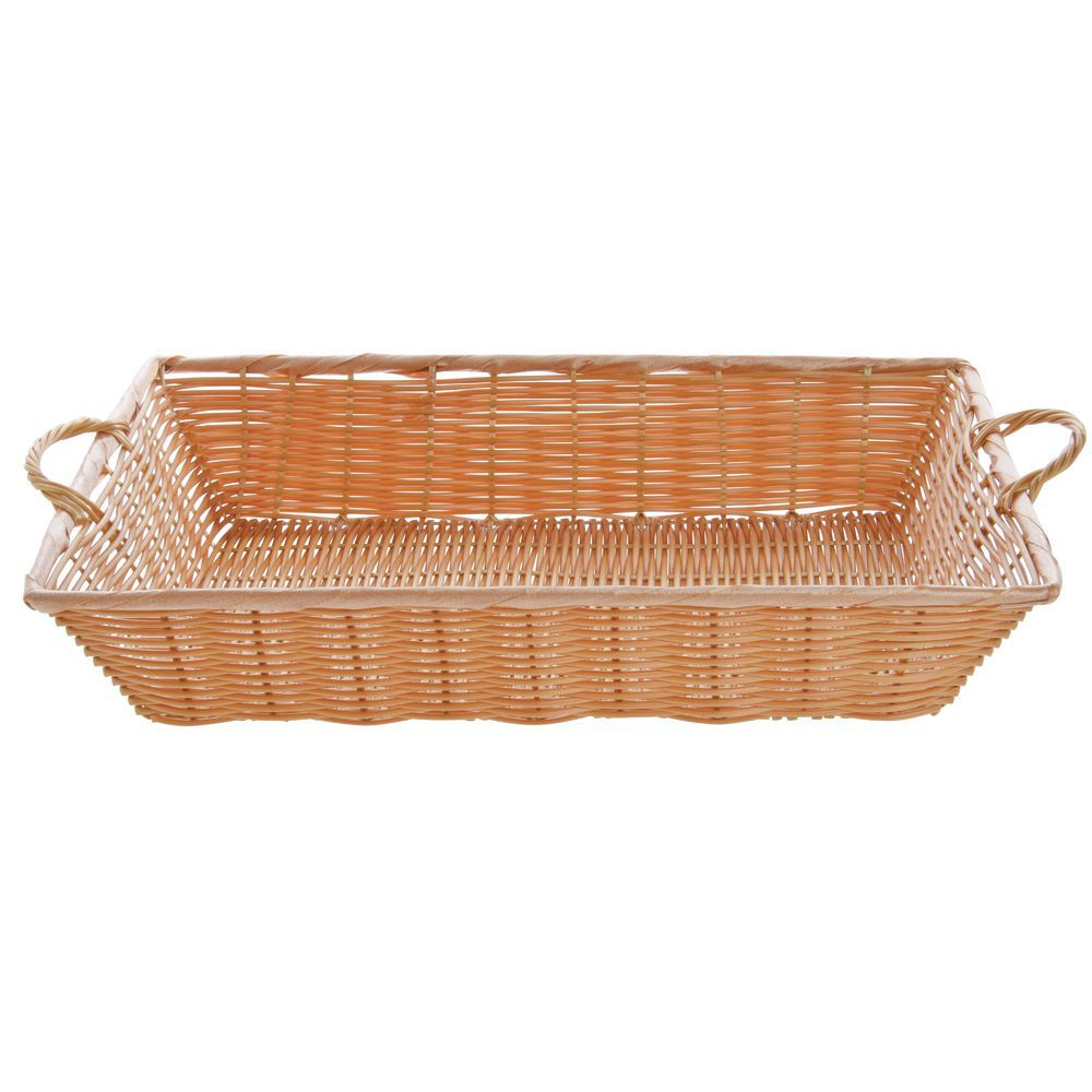 "BASKET, 20X13.5X4"", W/HANDLES, NATURAL"