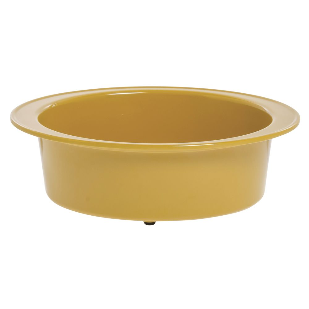 Expressly Hubert® Oval Melamine Baker Mustard Yellow 12 x 9 x 4