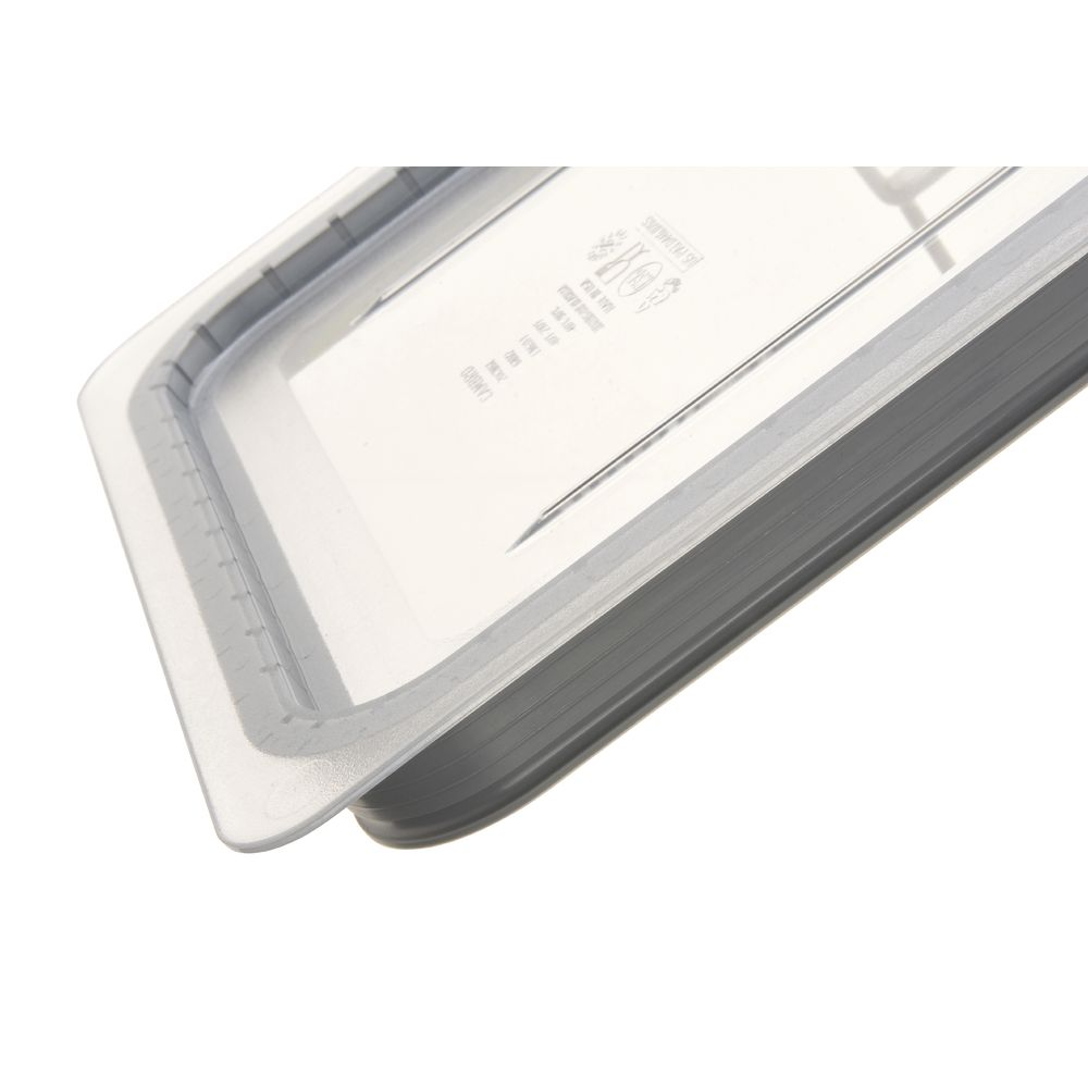 COVER, GRIP LID, 1/2 SIZE, CLEAR