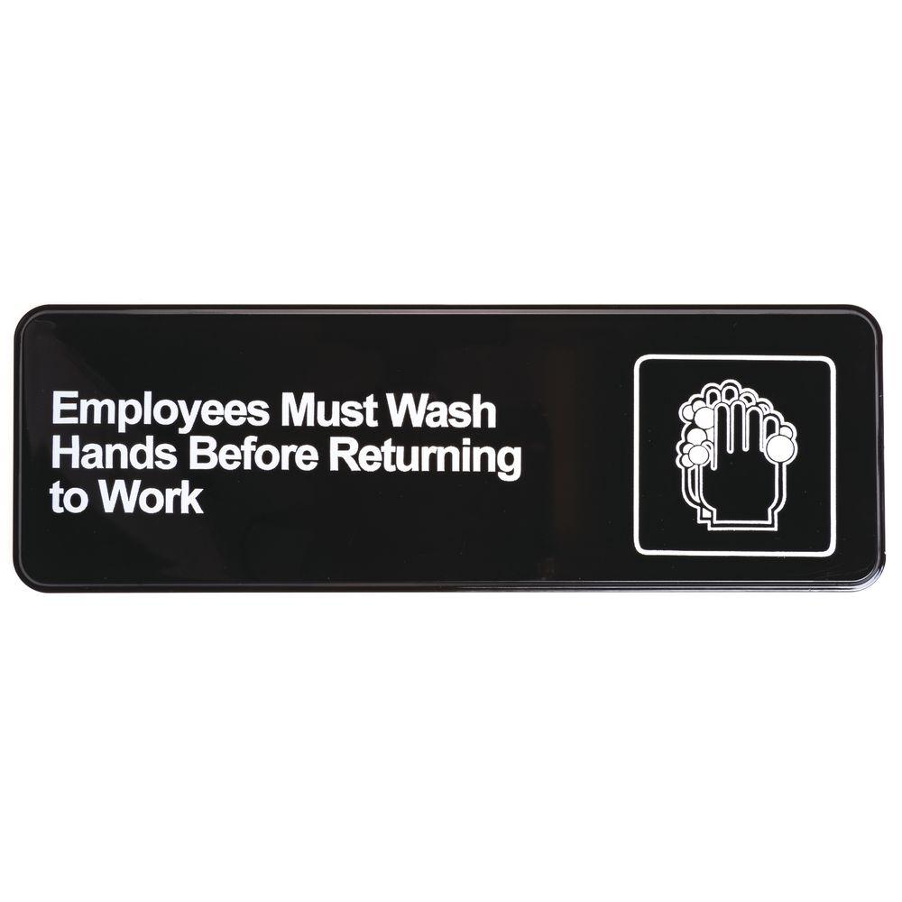 EMPLOYEES MUST WASH HANDS BEFORE RETURNI