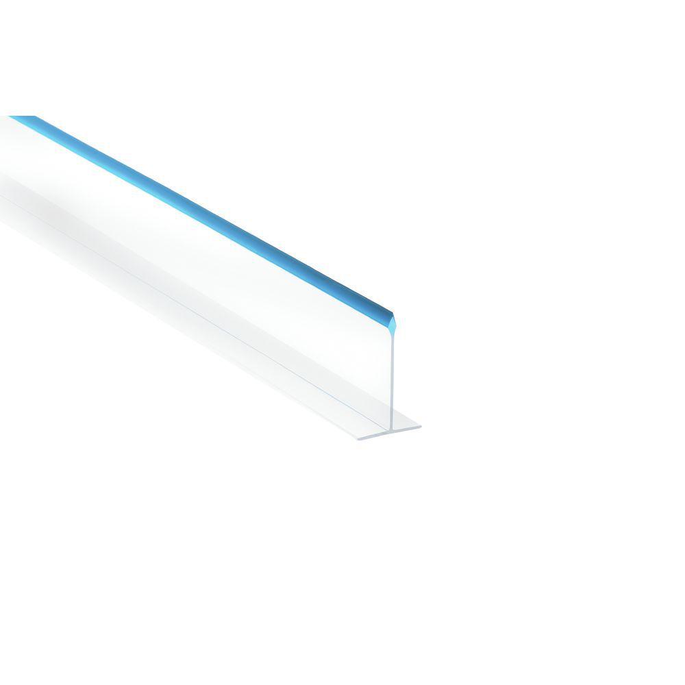 "DIVIDER, CLEAR/BLUE, 30""LX5""H"