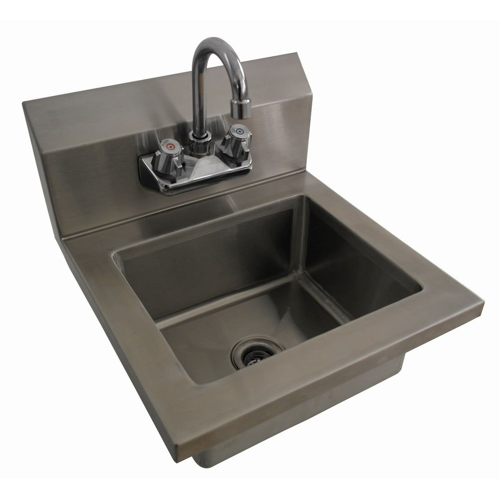 Hubert Stainless Steel Hand Sink With Manual Faucet 15 12l X 17