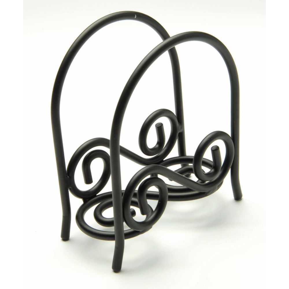 Spectrum Diversified Scroll™ Collection Black Metal Arch Napkin Holder -  5
