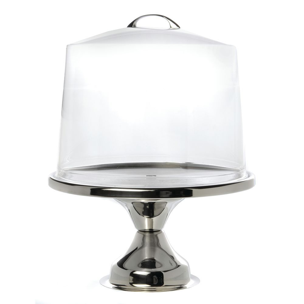 PEDESTAL, CAKE STAND, 12DIAX7H, STAINLESS