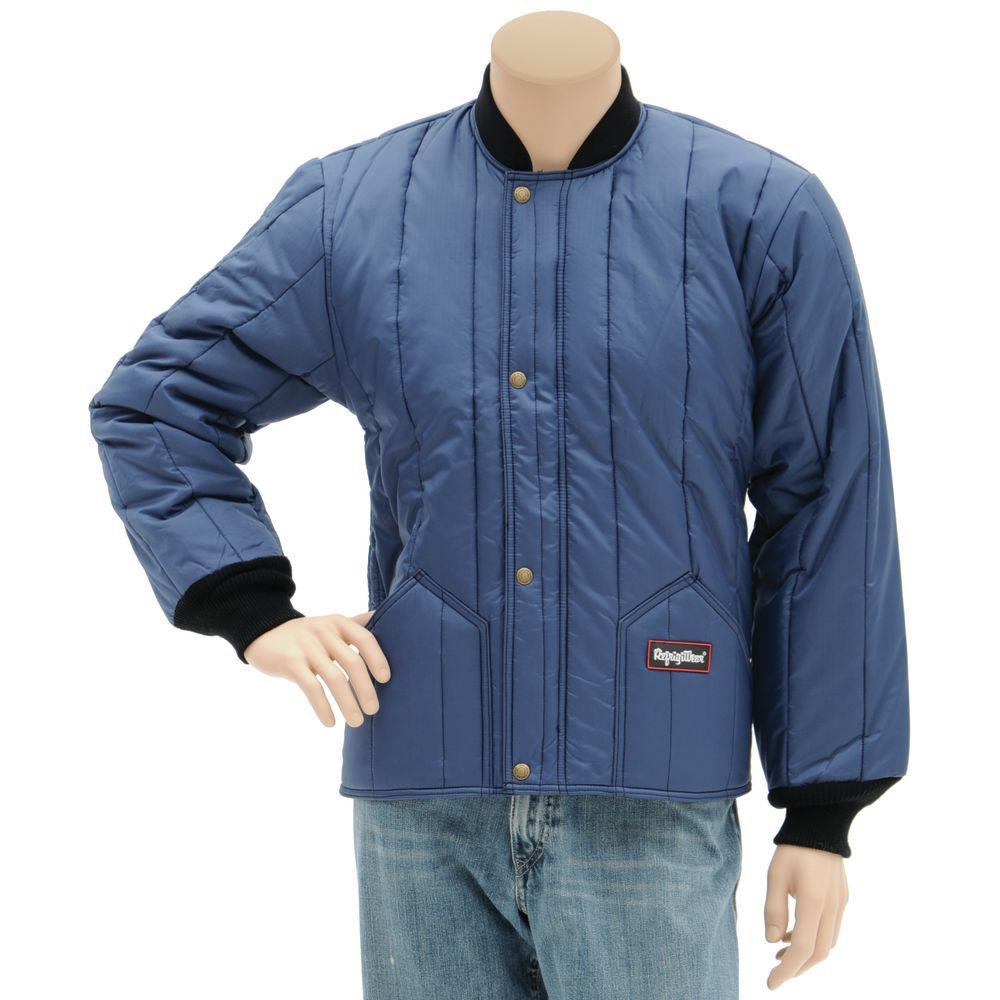 RefrigiWear Insulated Cooler Jacket Navy XLarge