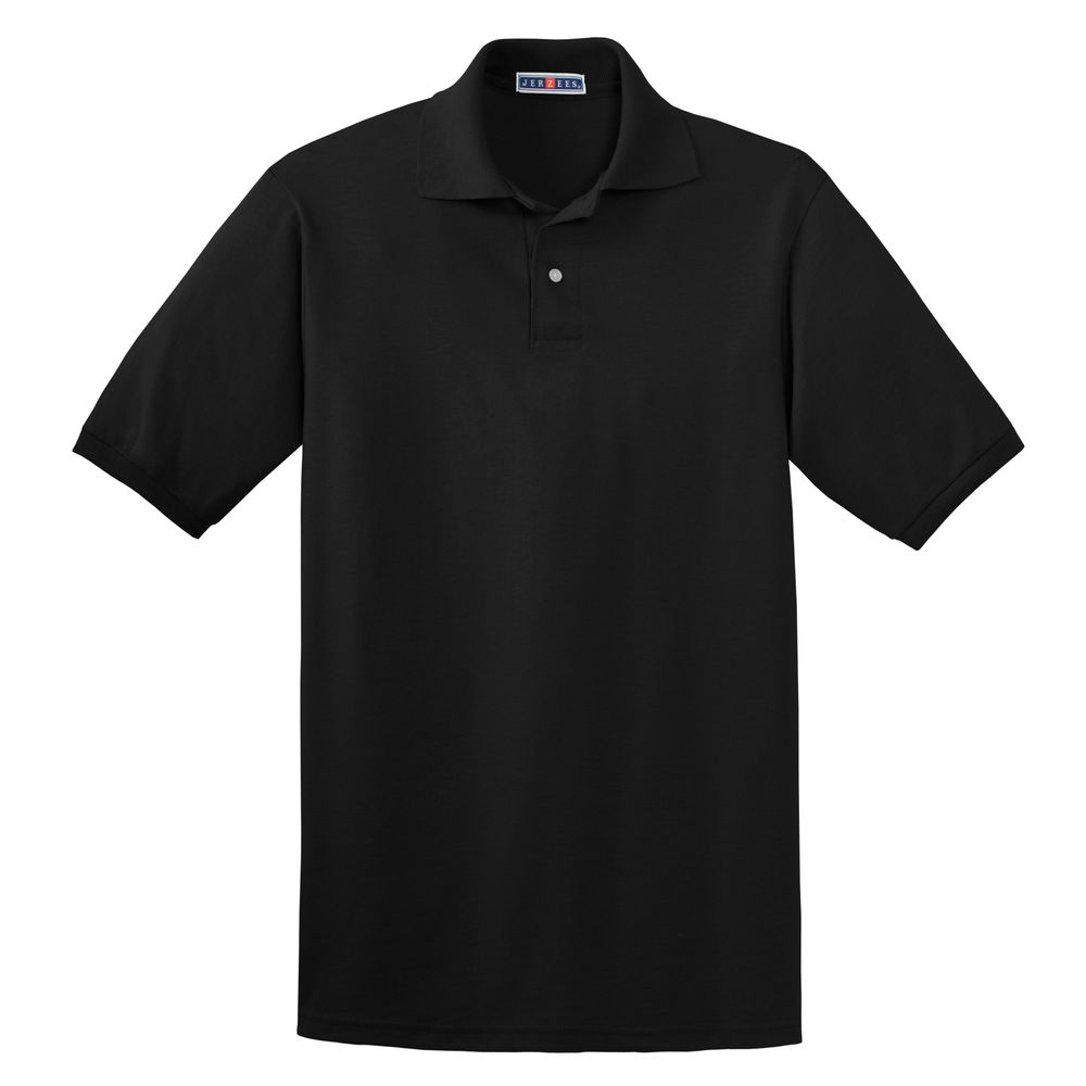 POLO SHIRT, LARGE, BLACK, UNISEX