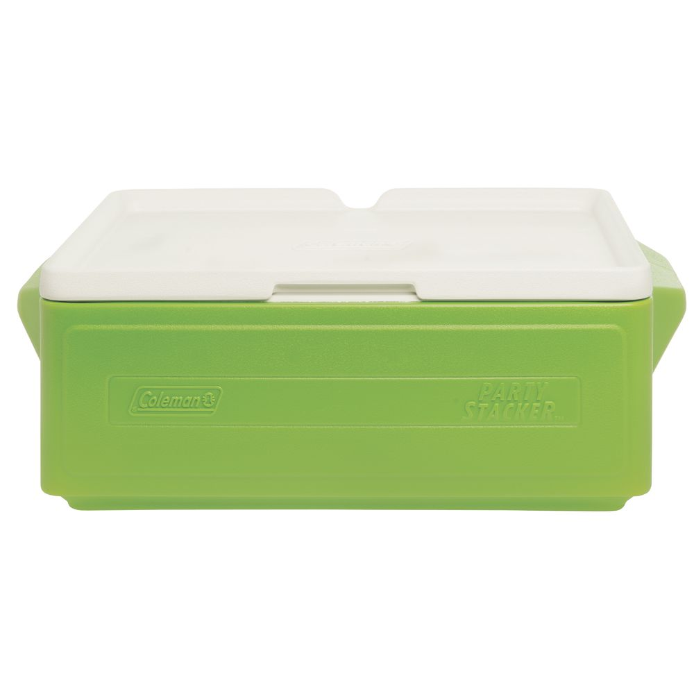 COOLER, PARTY STACKER, COLEMAN, 25 QT, GREEN