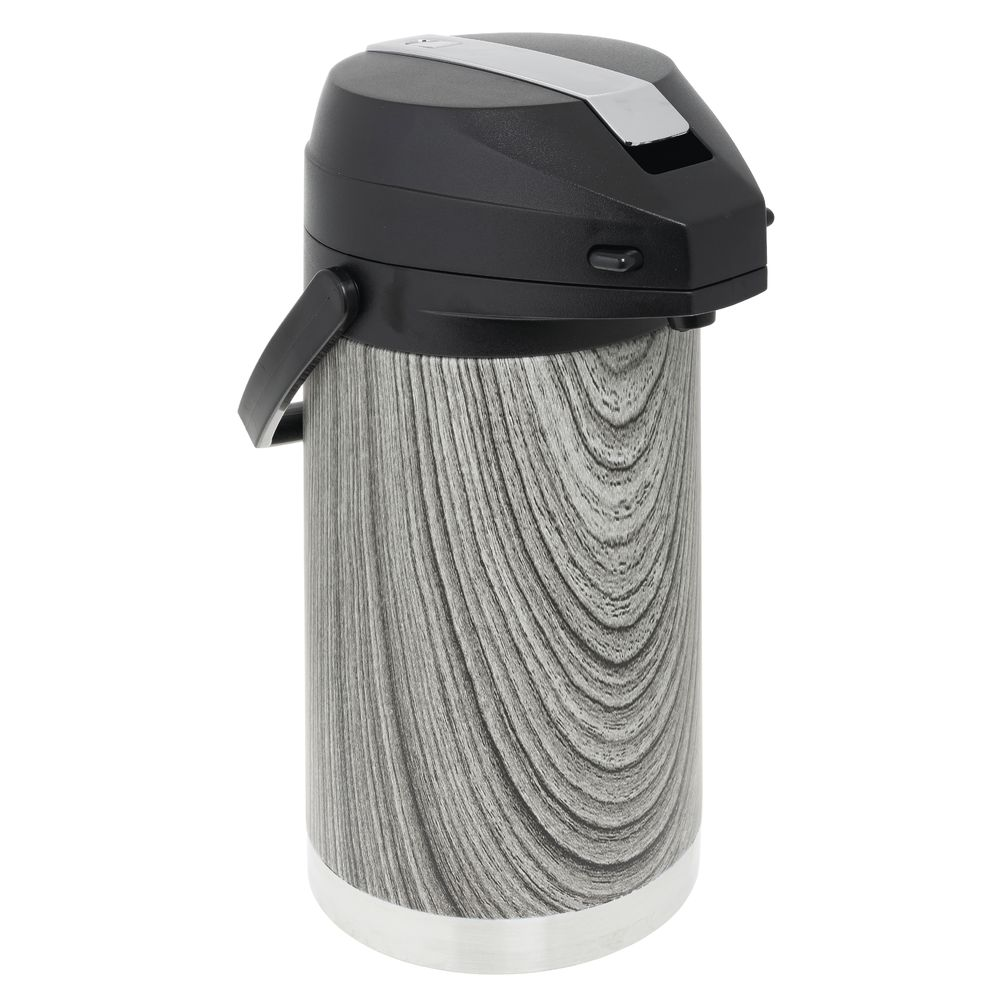 AIRPOT, GREY GRAIN, STAINLESS, LEVER, 3L
