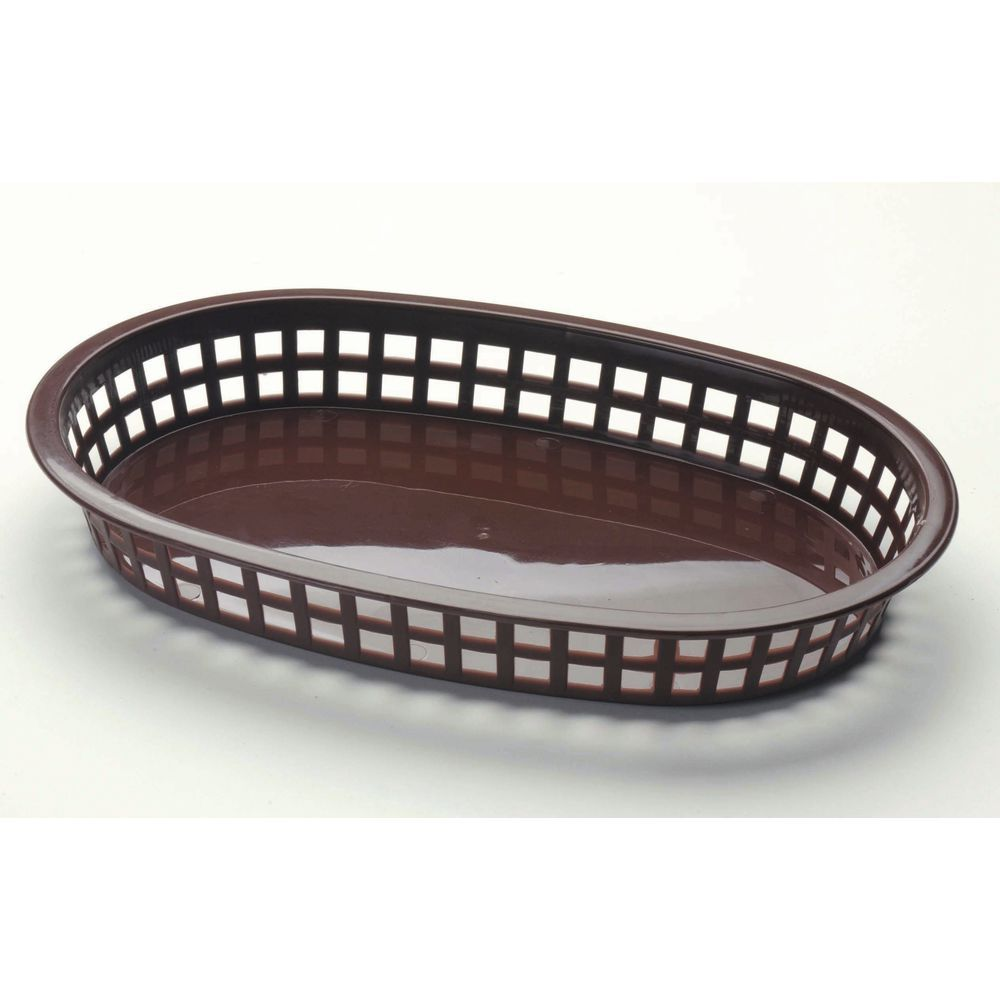 BASKET, BROWN PLASTIC 10-1/2X7X1-1/2