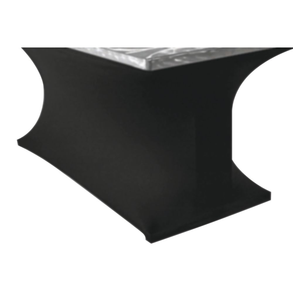 Ordinaire Southern Aluminum Silver Swirl Black Spandex Rectangular Or Serpentine  Buffet Table Skirting   72L X 30W