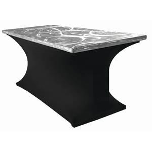 TABLE, FOLDING, ALULITE, SILV S SWIRL, 30X72