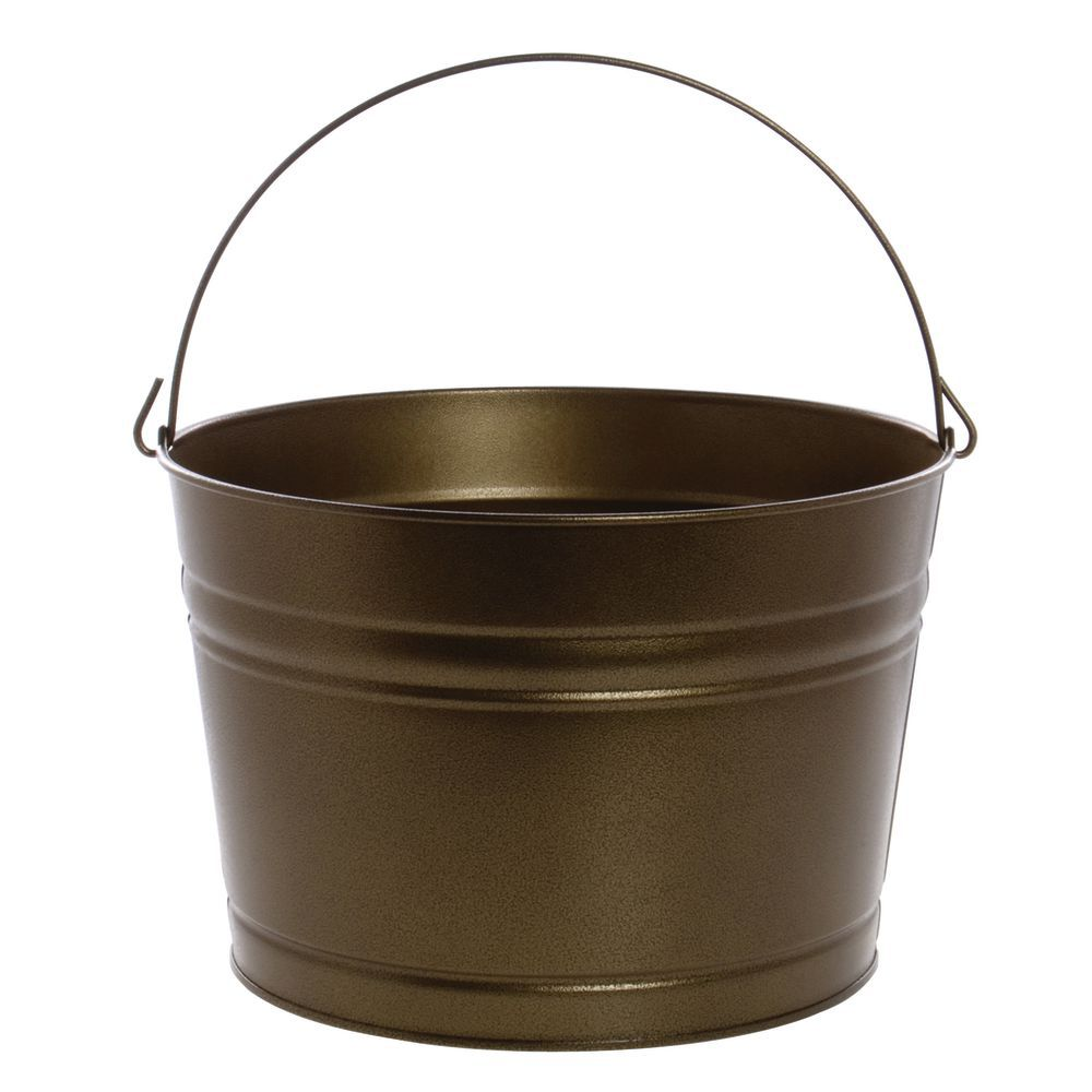 TUB, PAINTED ROUND, 4.5 GAL.ANTIQ-BLK W/GL