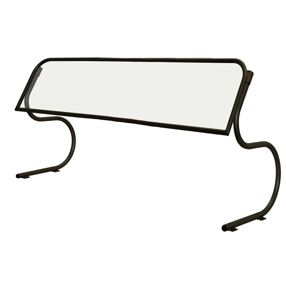 """Buffet Sneeze Guards Portable 94 3/4""""L Scratch- Resistant Black High Profile Opening"""