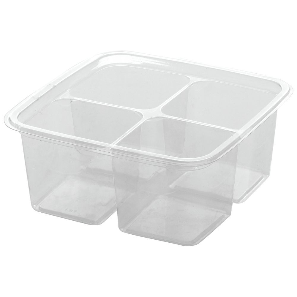 CONTAINER, GREENWARE, CLEAR, 4 CELL