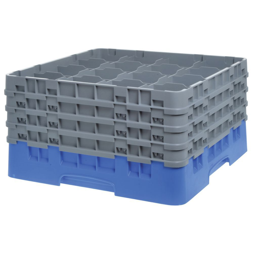 """Cambro Glass Rack Full Size Sixteen 4 3/8"""" Compartments Maximum Glass Height 9 3/8"""""""