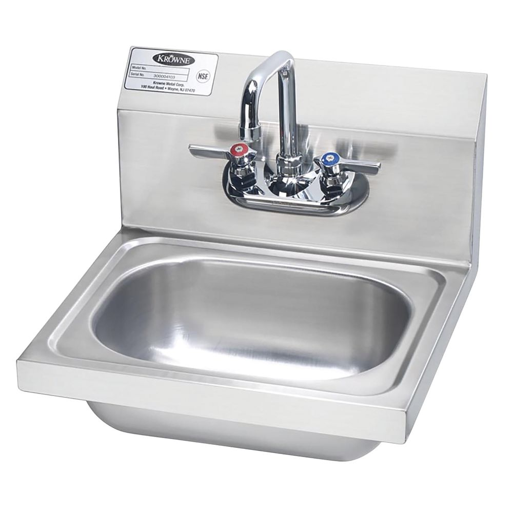 """SINK, HAND, 16"""", S/S, W/FAUCET"""