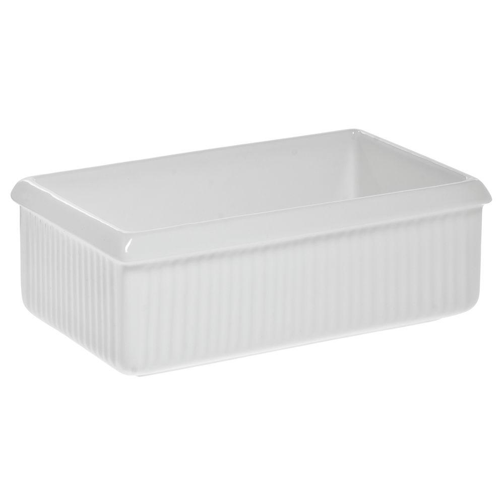 Tablecraft® Coated Aluminum Serving Bowl Fluted 2 Qt 8 Oz White